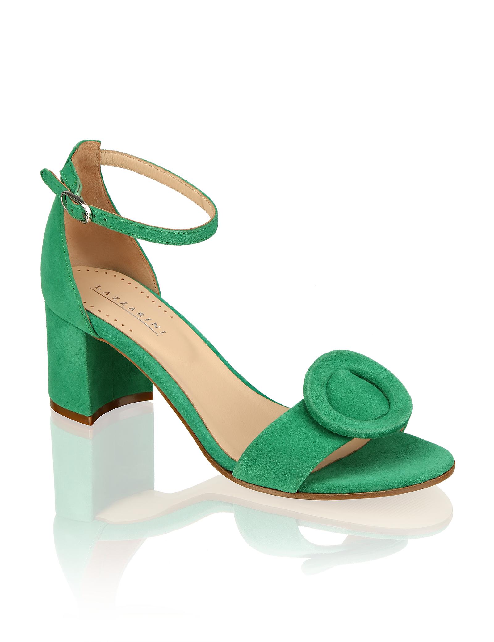 Artikel klicken und genauer betrachten! - Lazzarini Veloursleder Sandale | im Online Shop kaufen