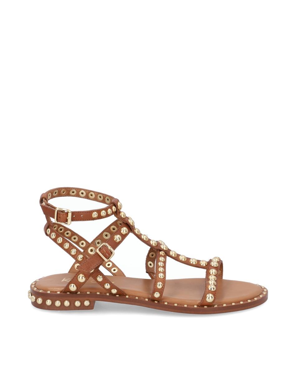 Kate-Gray-Glattleder-Sandale-schwarz