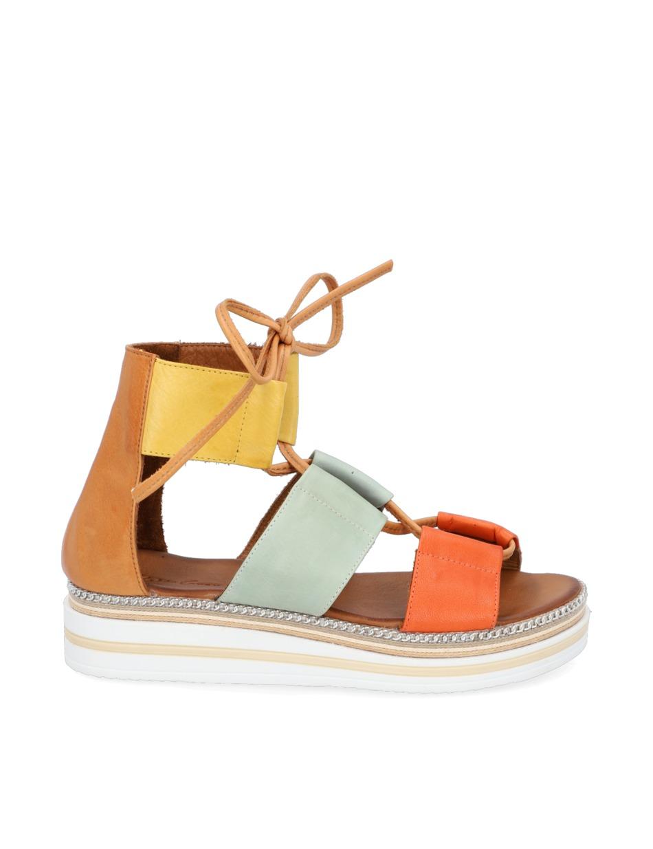 Kate-Gray-Glattleder-Sandale-multicolor