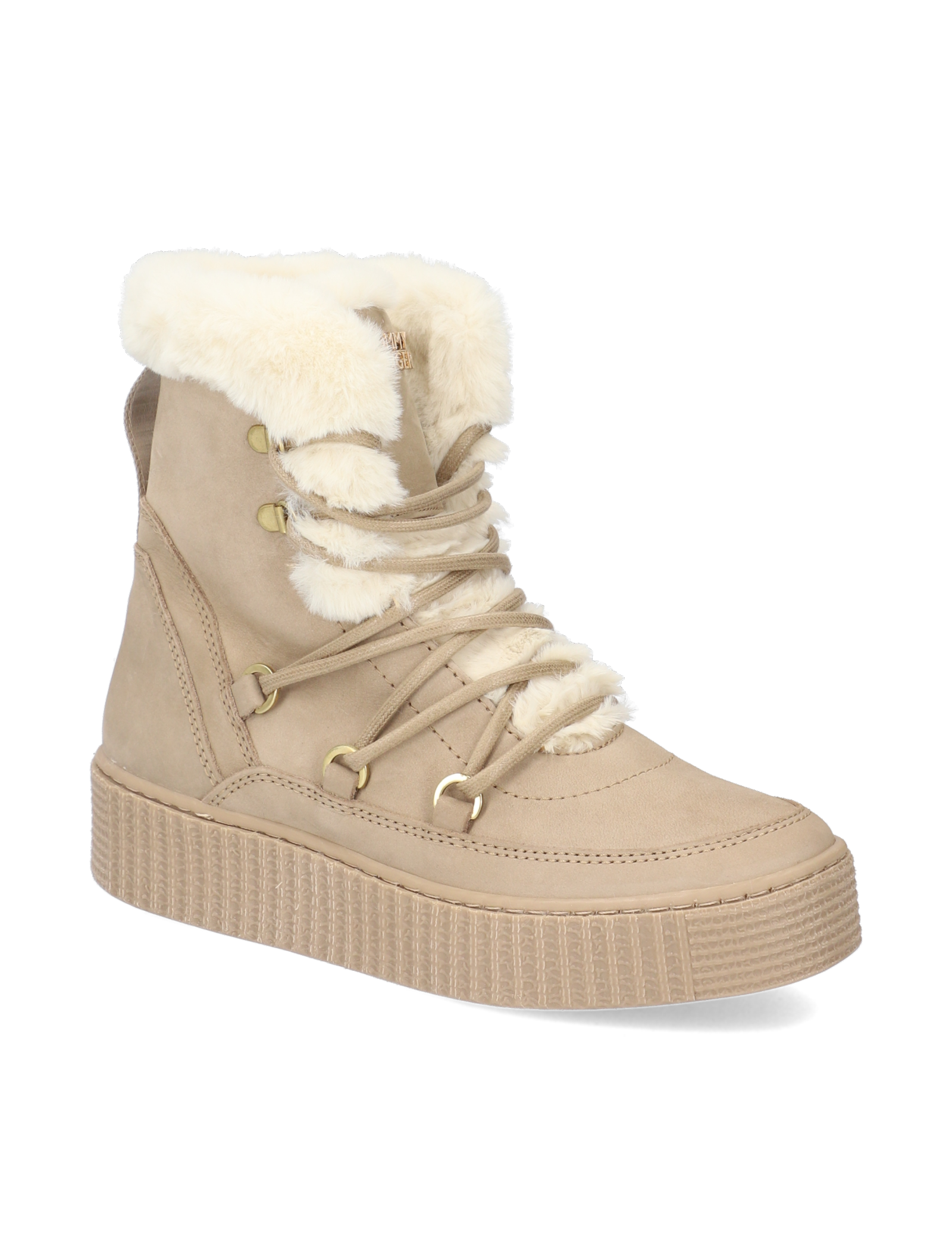 Tommy Hilfiger TOMMY WARM LINED LACE UP BOOTIE beige