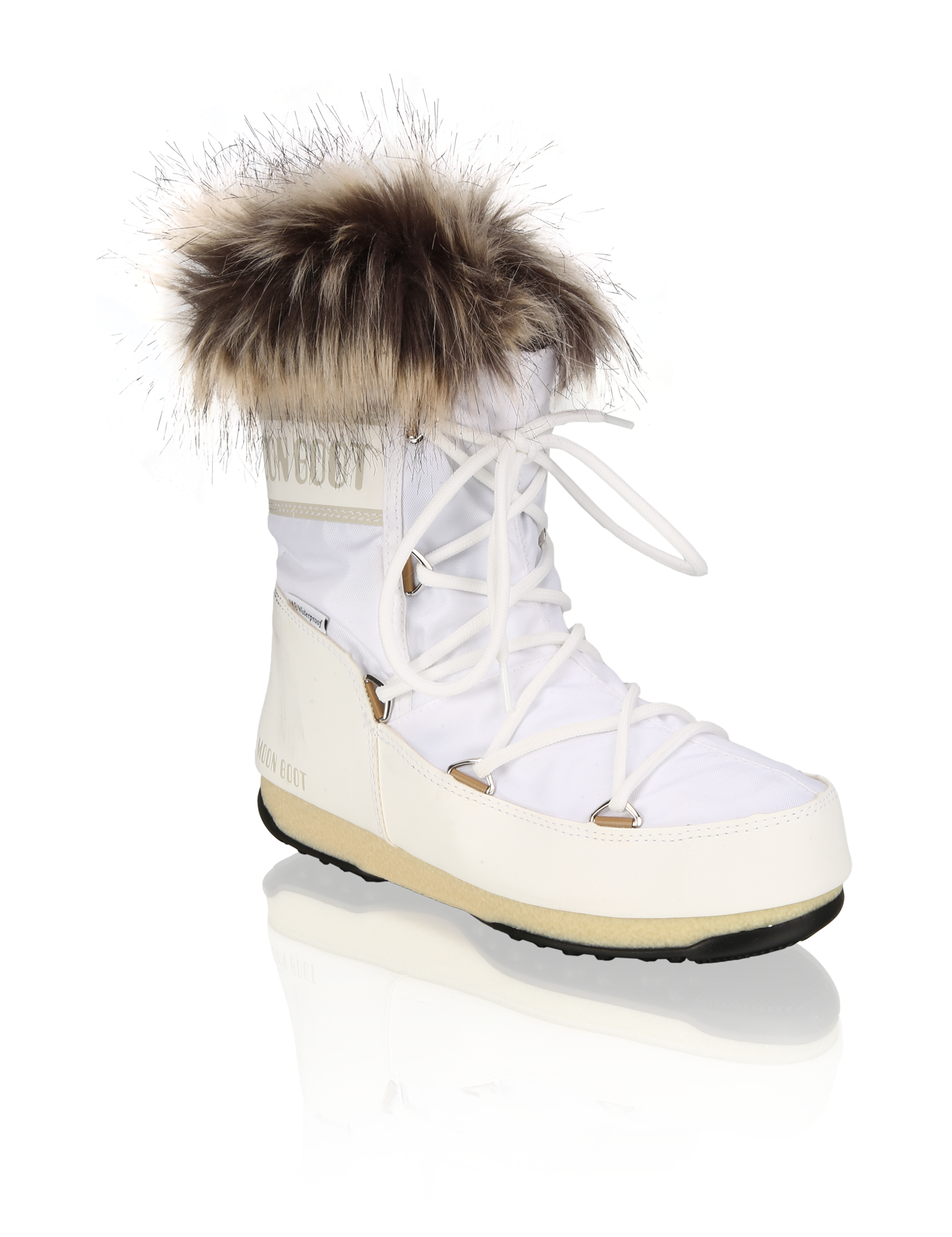 Stiefel - MOON BOOT MONACO LOW WP 2 weiss  - Onlineshop HUMANIC